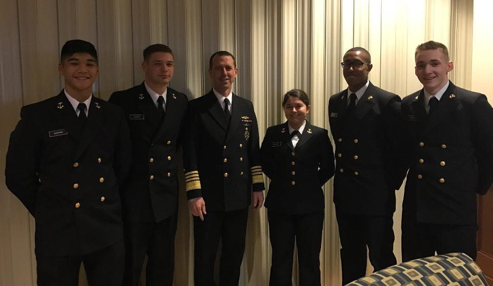 UMBC Midshipmen with the Chief of Naval Operations, ADM Richardson